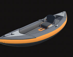 Inflatable Kayak without paddle 3D asset