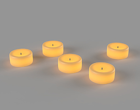 3D Glowing LED candles
