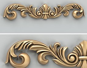 3D model Carved decor horizontal 024