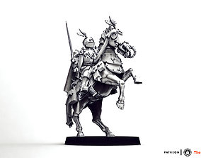 3D printable model Feudal Guard High Born Cavalry Officer