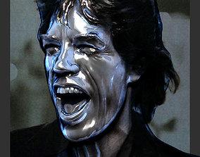 face Mick Jagger 3D print model