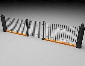 Elegant Historical Fence Low Poly Game Model VR / AR ready