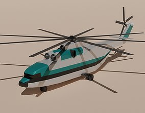 3D asset low-poly Mil Mi-26