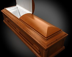 3D model High Def wood Coffin Italian