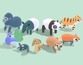 Jungle Animals - Quirky Series 3D asset