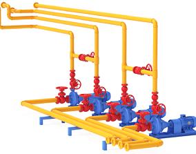 Industry Plant 01 3D model