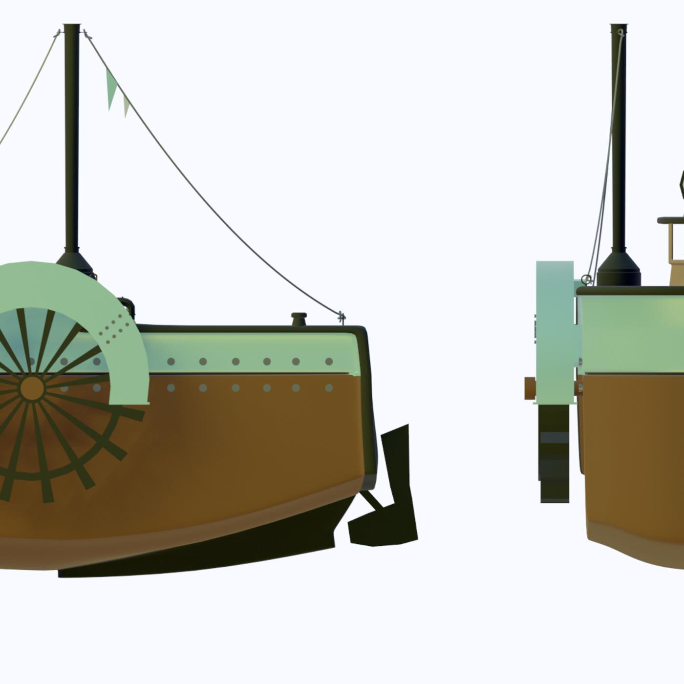 cartoon ship tug