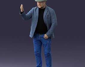 cool Man with hat 1213 3D figurine model