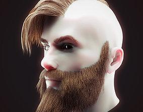 3D model Head Hair Kit Low Poly 3