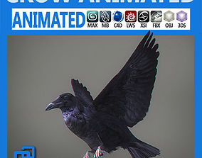 Animated Crow horror 3D model