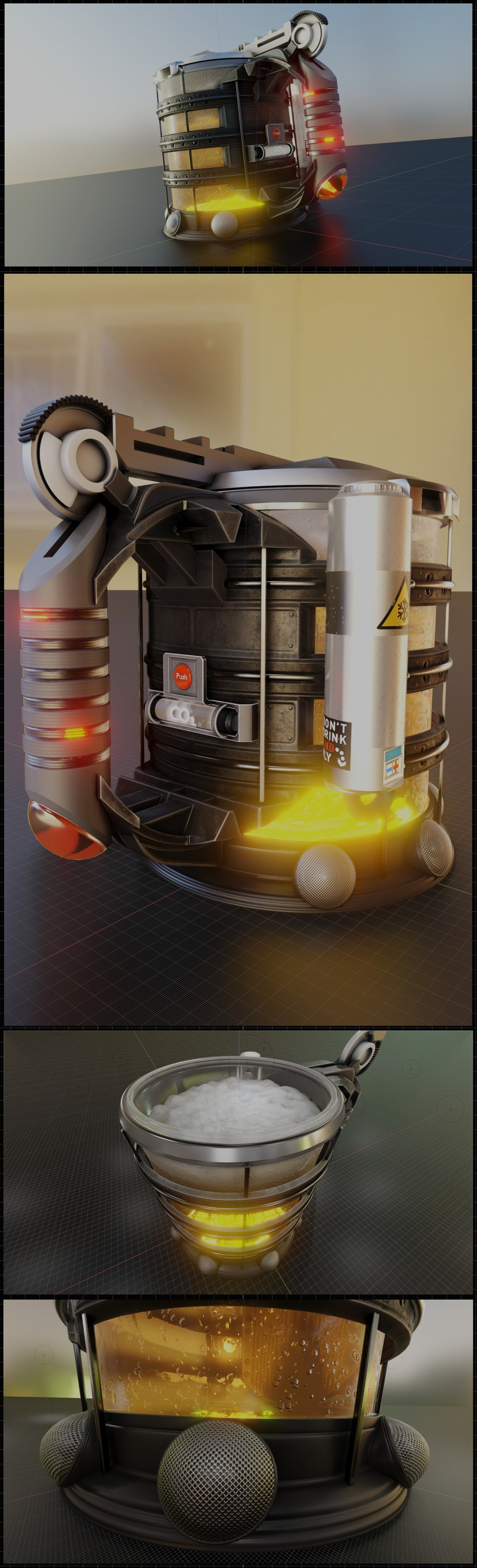 The Infinite Beer Mug From The Future (Wip-76) Blender-2.90.1