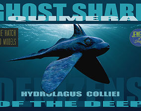 low-poly Ghost Shark 3D model
