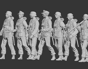 3D print model machine German soldiers