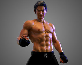 Male Asian BOX - MMA Fighter 3D animated