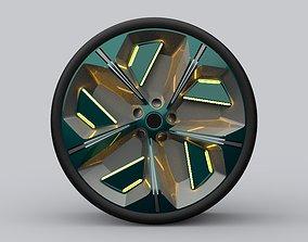 Car wheel concept 3D