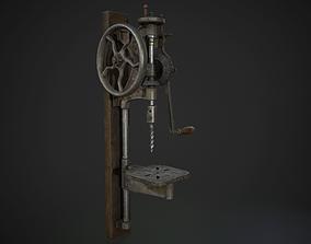 3D asset Hand Crank Drill Press