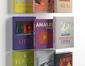 library 3D model Books 01