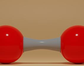 3D model O2 Oxygen Molecule