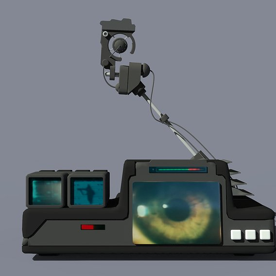 Bladerunner Eye Scanner in lowpoly