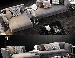 3D model Minotti Seymour Sofa 2