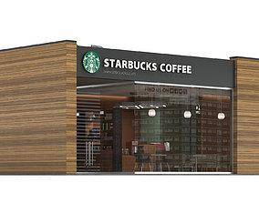 Starbucks coffee shop 3 3D model