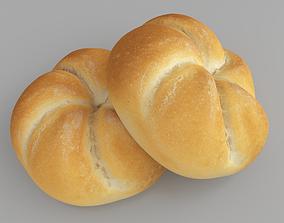 3D model Photorealistic Baked Buns