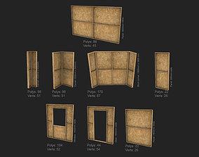 3D asset Modular construction site wall partition kit