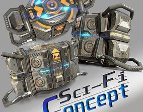 3D asset Cyberpunk device - Sci-fi - Game Ready