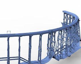 Railway track bridge 3D model
