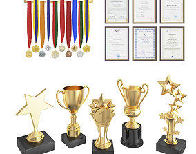 Awards set 3D model