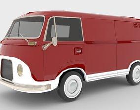 3D model low-poly Ford Taunus Transit 1964
