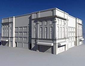 Vintage Retail Store Buildings 3D asset