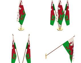 Wales Flag Pack 3D model