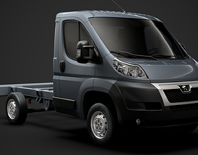 3D Peugeot Boxer Manager Chassis Truck Single Cab 3000WB