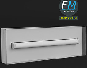 Wall mounted emergency light 3D model