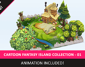 3D asset Stylized Toon Fantasy Environment World Animated