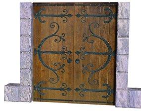 3D model Door wooden wide
