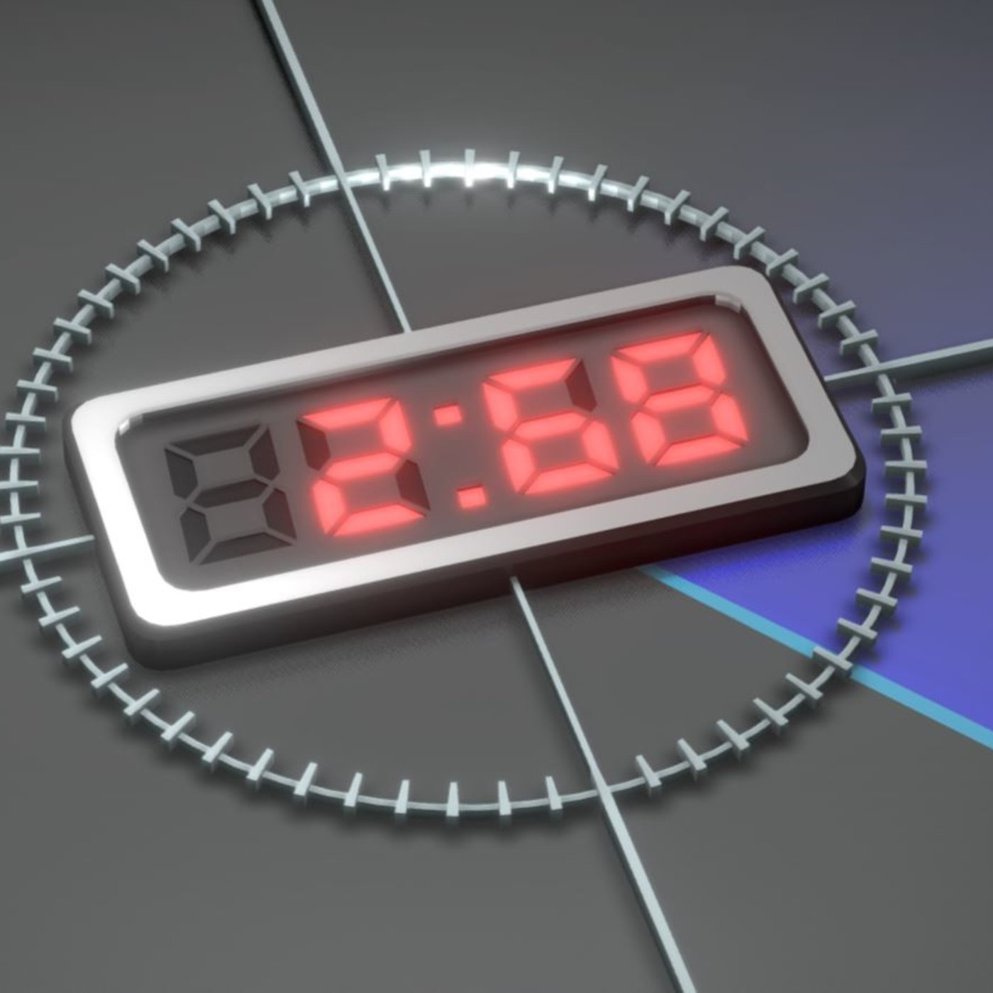 3D Countdown 5 4 3 2 1 - Animation