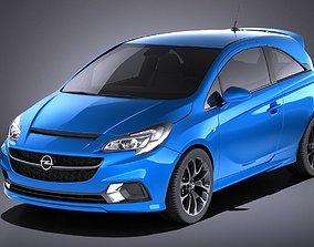 Opel Corsa OPC 2017 VRAY 3D model