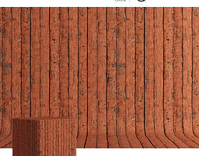 3D Wood material Painted boards 03