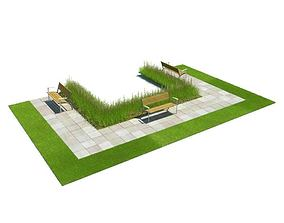 Outdoor Park Landscape 3D model