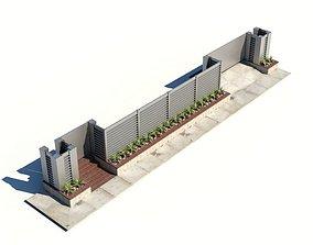 3D model Outside Building Wall