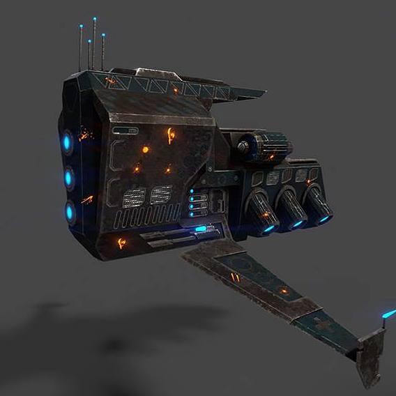Spaceship damaged