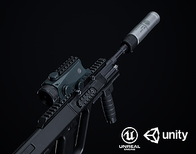 3D model Steyr Aug A1-A3-Para Variants