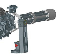 m134 minigun machinegun 3D