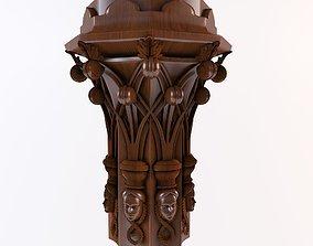 3D print model Gothic capital