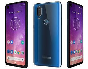 3D Motorola One Vision Sapphire gradient