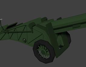 Low Poly Artillery WWII 3D model