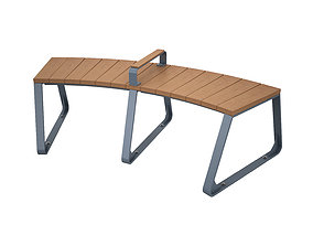 3D CURVED TIMBER BENCH