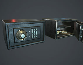 3D model Metal Safe v3 PBR Game Ready